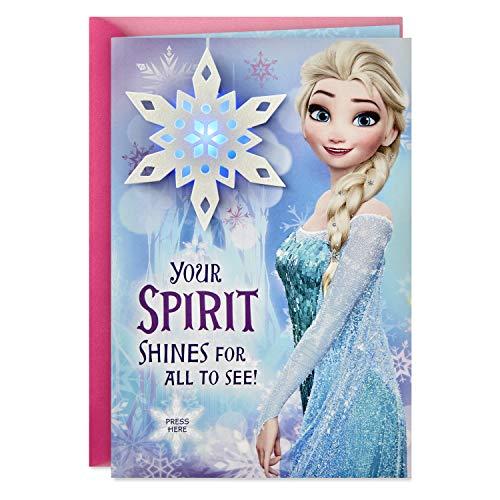 Hallmark Disney Frozen Musical Christmas Card for Kid (Plays Let it Go)