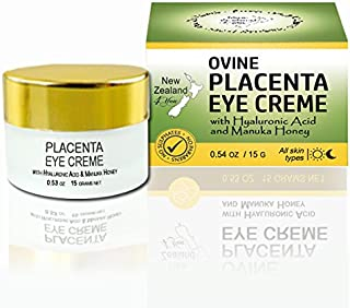 New Zealand 4 You Ovine Placenta Eye Cream with Hyaluronic Acid and Manuka Honey - Reduces Fine Lines & Wrinkles, Firms & Brightens - All Natural Ingredients, 15g