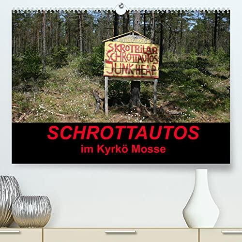 Schrottautos im Kyrkö Mosse (Premium, hochwertiger DIN A2 Wandkalender 2022, Kunstdruck in Hochglanz): Das Himmelreich für Schrottautos! Ein Museum mitten in Wald. (Monatskalender, 14 Seiten )
