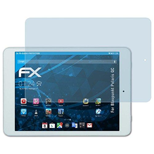 atFolix Schutzfolie kompatibel mit Blaupunkt Polaris QC Folie, ultraklare FX Bildschirmschutzfolie (2X)