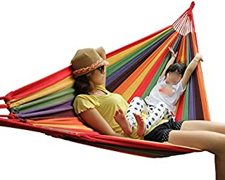 ZDNALS Anti-Rollover Dorm Room Hammock Indoor Outdoor Household Out of Bed Bedroom Individual Swing College Students Thickening Child Shaker (Color : #1)