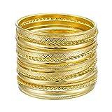 Ensoul 2.68' Inner Diameter Gold Color Multiple Metal Bracelets &...