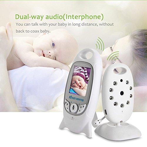 video Babyphone mit Kamera COSANSYS Wireless Video baby Monitor 2 Zoll 2.4GHz Temperatursensor Schlaflieder Nachtsicht Gegensprechfunktion Drehbare Kamera - 3