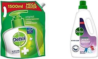 Dettol Original Germ Protection Handwash Liquid Soap Refill, 1500ml & Dettol After Detergent Wash LiquidLaundrySanitize...