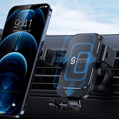 Syncwire Support Téléphone Voiture Grille - Porte Portable Voiture avec Rotation 360° pour iPhone 11 Pro Max / XS Max / X / XR / 8 Plus / 8, Samsung S10 / S9 / S8, Huawei, Xiaomi etc.