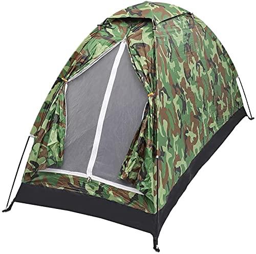 joyvio Kamouflagemönster campingtält för 2 personer, med UV-skydd, vattentätt, vikbart, för familj, resor, festival, vandring, med bärväska (Color : Green, Size : 3-4 people 200 * 200CM)