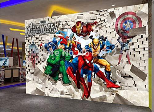Benutzerdefinierte Leinwand Wandbild Avengers Poster Spider-man Thor Iron Man Aufkleber Marvel Dc Superhelden Wandbild Hulk Wallpaper Kids