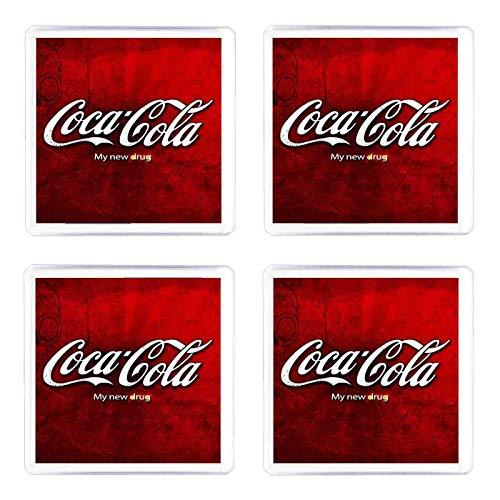 Set di 4 Sottobicchieri Coca Cola
