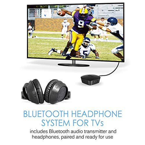 MEE audio Connect T1M3 Bluetooth Wireless Headphone System for TV - Includes Bluetooth Wireless Audio Transmitter and Matrix3 Wireless HD Headphones w/aptX Low Latency Technology