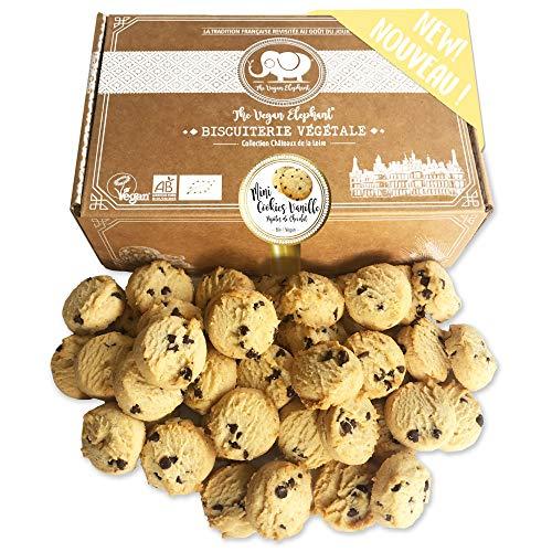 Vegan Mini Cookies Bio Kekse: Vanille-Schokoladen Kekse, 100{ee1b075beeb8c29acf8659e747e8a09025227d7ef342ae25d8f97d48a7cba122} Biologisch, Palmöl-Frei & GVO-Frei, Handgefertigt aus Hochwertigen Zutaten. 300g