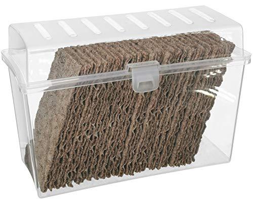 My-goodbuy24 Knäckebrotdose Knäckebrot Box mit Deckel - Brotbox - luftdicht - Aufbewahrungsbox - Transparent/weiß (1 Stück)