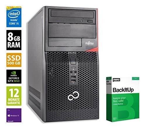 Fujitsu Esprimo P520 MT | Gaming PC | Intel Core i5-4590 @ 3,3 GHz | 8GB RAM | 500GB SSD | DVD-Brenner | Nvidia GTX 1650 | Windows 10 Pro (Zertifiziert und Generalüberholt)