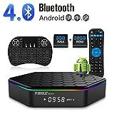 YAGALA Android 9.0 TV Box, T95Z Plus Amlogic S905X3 Quad-Core Cortex-A53 CPU 4GB RAM 32GB ROM 2.4GHz/5GHz Dual Band WiFi 8K 4K Ultra HD Resolution Bluetooth 4.0 with Backlit Mini Wireless Keyboard