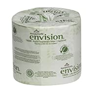 "GEORGIA-PACIFIC Envision 19880/01 2-Ply Embossed Bathroom Tissue, 4.05"" L x 4"" W, White, 4 Rolls Pack"