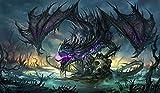Zombie Dragon TCG playmat, gamemat 24' wide 14'...