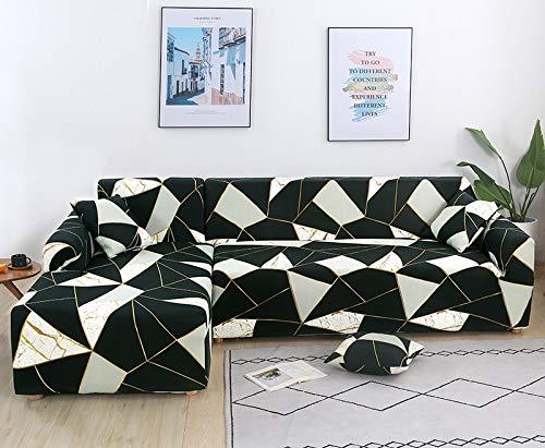 ASCV Funda de sofá de Sala de Estar geométrica en Forma de L Funda de sofá elástica Funda de sofá reclinable elástica Funda de sofá Lavable A9 4 plazas