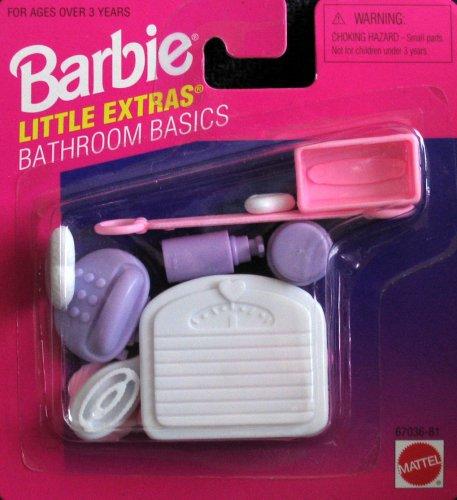 Barbie Little Extras - Paquete de accesorios para baño (1996 Arcotoys, Mattel)