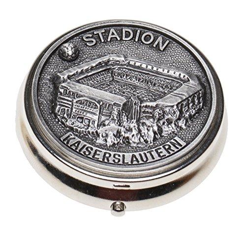 Schnabel-Schmuck Kaiserslautern Taschenaschenbecher Zinnauflage Fußballstadion