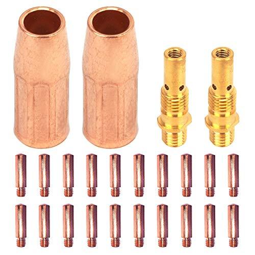 """Mig Welding gun accessory11-35 0.035"""" kit for Forney 140 FC-i Mig gun: 20pcs Contact Tips 11-30 0.030"""" + 2pcs gas nozzles 21-50F + 2pcs 35-50 welding diffuse"""