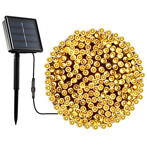 OxyLED Solar String Lights Outdoor, 72ft 200 LED Christmas String Lights Solar Powered Waterproof, Decorative Fairy Lights for Christmas Tree, Halloween, Garden, Patio, Wedding, Party (Warm White)