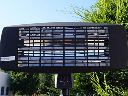 Traedgard® Infrarot Stand Heizstrahler Morsum 2000 Watt mit Fernbedienung und Standfuß, 64548 - 7