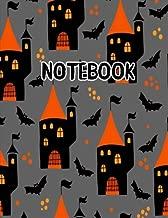 Notebook: Spooky Castle Bat Halloween Journal 8.5 x 11 (Fun Halloween Journals) (Volume 5)