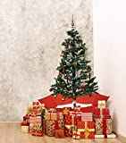 Fraser Hill Farm Red Let Series 67-in. Musical Christmas Tree Umbrella Base and Snow Function
