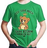 Hariz – Camiseta para niño con texto en alemán 'Ich ve auch ohne Kostüm Niedlich aus Bär Carnaval disfraz, incluye tarjeta de regalo verde 14 años
