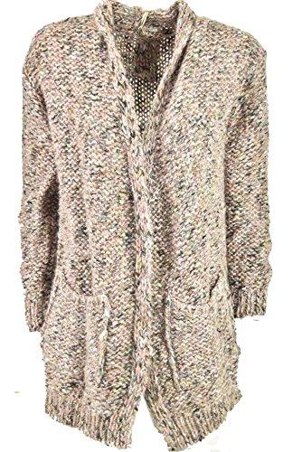 Very Chic! Hekla/&Co Grande Sciarpa Donna Viola Doubleface Ciclamino Maglia Misto Cachemire 220x45