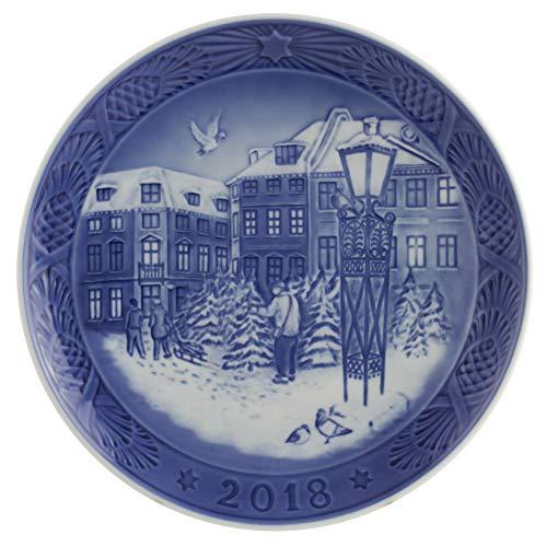 Royal Copenhagen 1024792 Xmas Plate Series RC - Piatto natalizio, in porcellana, multicolore