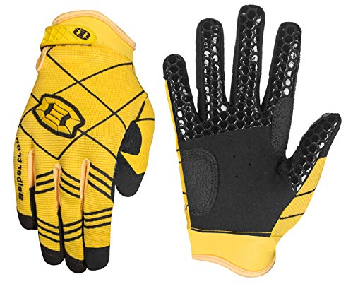 Seibertron B-A-R PRO 2.0 Signature Baseball/Softball Batting Gloves Super Grip Finger Fit for Adult Yellow XS
