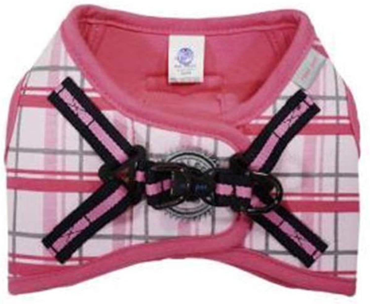 Dog Vest Harness, Chest Strap Outdoor Training Series Pet Leash Teddy For Small Medium Dogs Teddy Cat Supplies Safety Buffer Vest (color   PINK, Size   M)