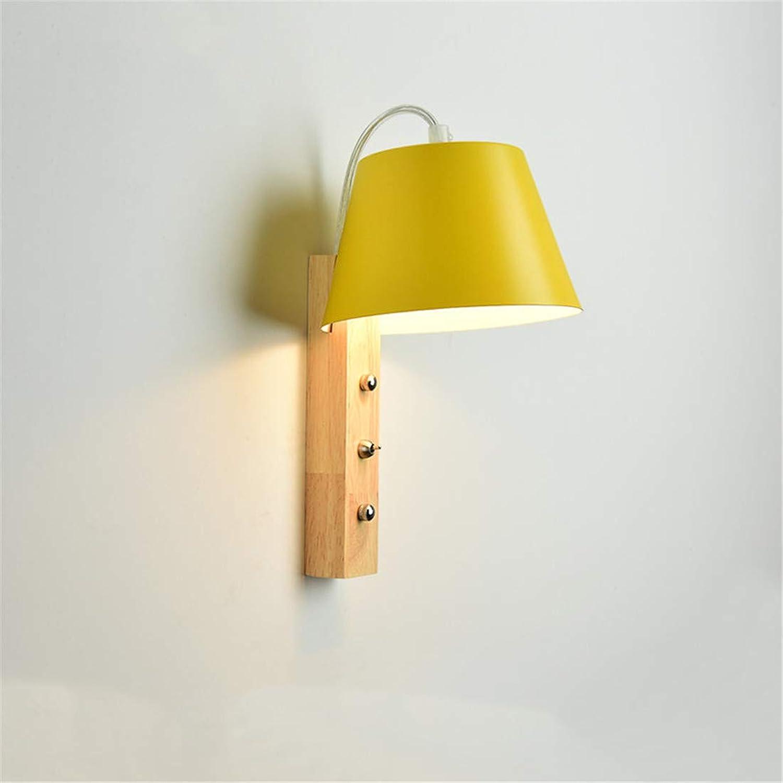 TV Wandlampe moderne minimalistische Holz Wohnzimmer Lampe Nordic Schlafzimmer Nachttischlampe Massivholz Wandlampe Ganglichter, C