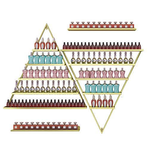 Support d'affichage de vernis à ongles, support de stockage de vernis à ongles mural en métal, support d'huile essentielle de rouge à lèvres cosmétiqu