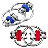 SCIONE Fidget Toys for Adults 2 Pack,Bike Chain ADHD Fidget Toys-Stress Relief Finger Fidget Toys for ADHD,Anxiety and Autism