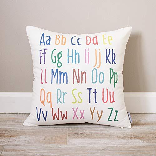 'N/A' Colorido alfabeto almohada personalizada bebé almohada almohada bebé bebé bebé almohada almohada bebé bebé bebé decoración bebé bebé regalo almohada ABC