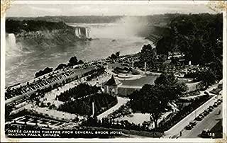 Oakes Garden Theatre from General Brock Hotel Niagara Falls, Ontario Canada Original Vintage Postcard