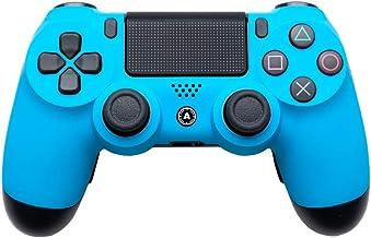 PS4 Slim DualShock Custom Playstation 4 Wireless Controller - سفارشی AimController آبی مت با 4 دست و پا زدن. مربع چپ بالا، پایین چپ X، مثلث راست بالا، سمت راست پایین O