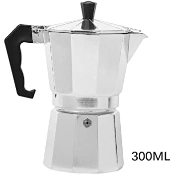 OurLeeme Moka Pot, Aluminio Espresso Latte Cafetera Tazas Percolator Filtro de café (6 Tazas): Amazon.es: Hogar