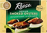 Reese Medium Smoked Oysters, 3.7-Ounces (Pack of 10)