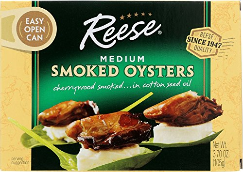 Reese Medium Smoked Oysters, 3.7-Ounces (Pack of...