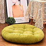 HIGOGOGO Round Solid Color Floor Pillow, Tufted Meditation Pillow for Seating on Floor Thick Seat Cushion Meditation Cushion for Yoga Living Room Sofa Balcony Outdoor, Green, 22x22 Inch