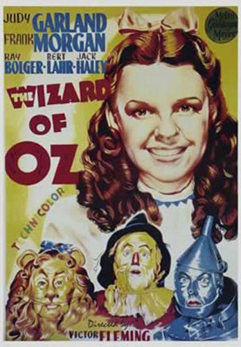 Póster de la película El Mago de Oz con Judy Garland (70 x 100 cm)