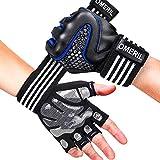 OMERIL Trainingshandschuhe Fitness Handschuhe mit Handgelenkstütze, Voll-Schutz & Rutschfest GYM...