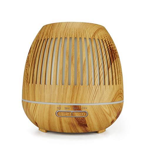 FairOnly 400 ML Luftbefeuchter Holzmaserung Hallow Nachtleuchtende Mini Luftbefeuchter Luftfilter Aromatherapie Maschine Fernbedienung Leichte Holzmaserung Japanischer Standard