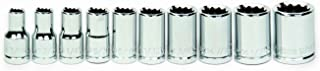 Williams 30923 10-Piece 1/4-Inch Drive Shallow 12 Point Socket Set