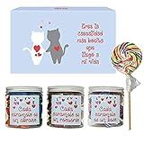 SMARTY BOX Caja Regalo Caramelos y Gominolas San Valentín, Cumpleaños Pareja, Enamorados, Cesta Golosinas Chuches Dulces sin Gluten, Fabricado en España