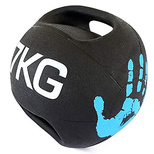 Balón Medicinal Balón De La Bola De La Medicina Binaural Bola Elástica, Inicio Gimnasio Core Muscle Training Resistencia Formación Aerobic Ejercicio Fitness Ball (Size : 7kg/15.4lbs)