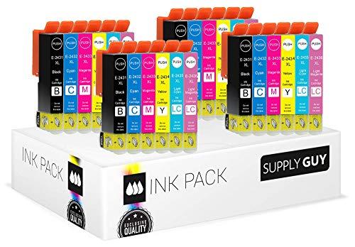 SupplyGuy 24 XL Druckerpatronen kompatibel mit Epson 24XL für Expression Photo XP55 XP750 XP760 XP850 XP860 XP950 XP960 XP970