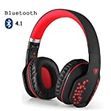 Bluetooth Over-Ear Headphone,Beexcellent Foldable Wireless HiFi Stereo Bluetooth 4.1 Headset,Noise Cancelling, Soft Earmuffs